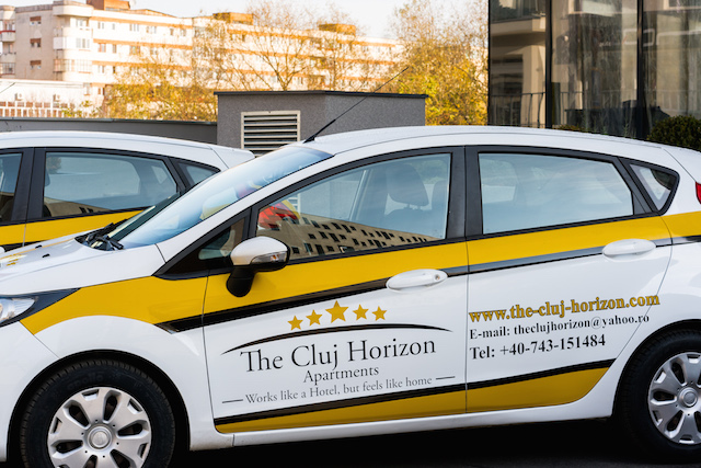 Car fleet The Cluj Horizon Aparthotel daily rent of luxury apartments Cluj